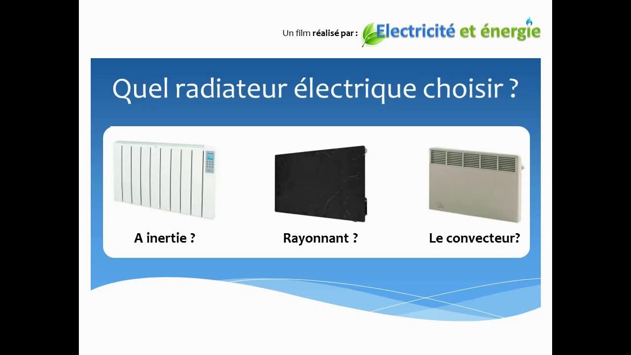 choisir radiateur electrique