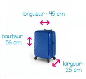 valise 56 x 45 x 25 cm