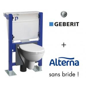 wc suspendu sans bride geberit