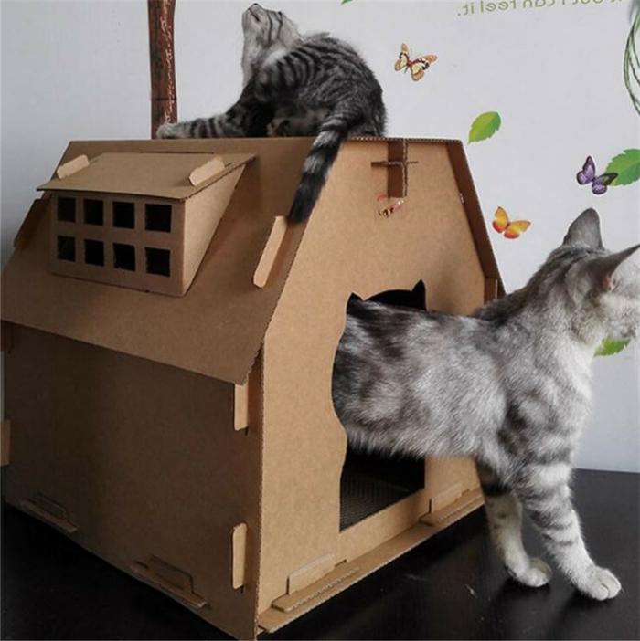 maison en carton pour chat