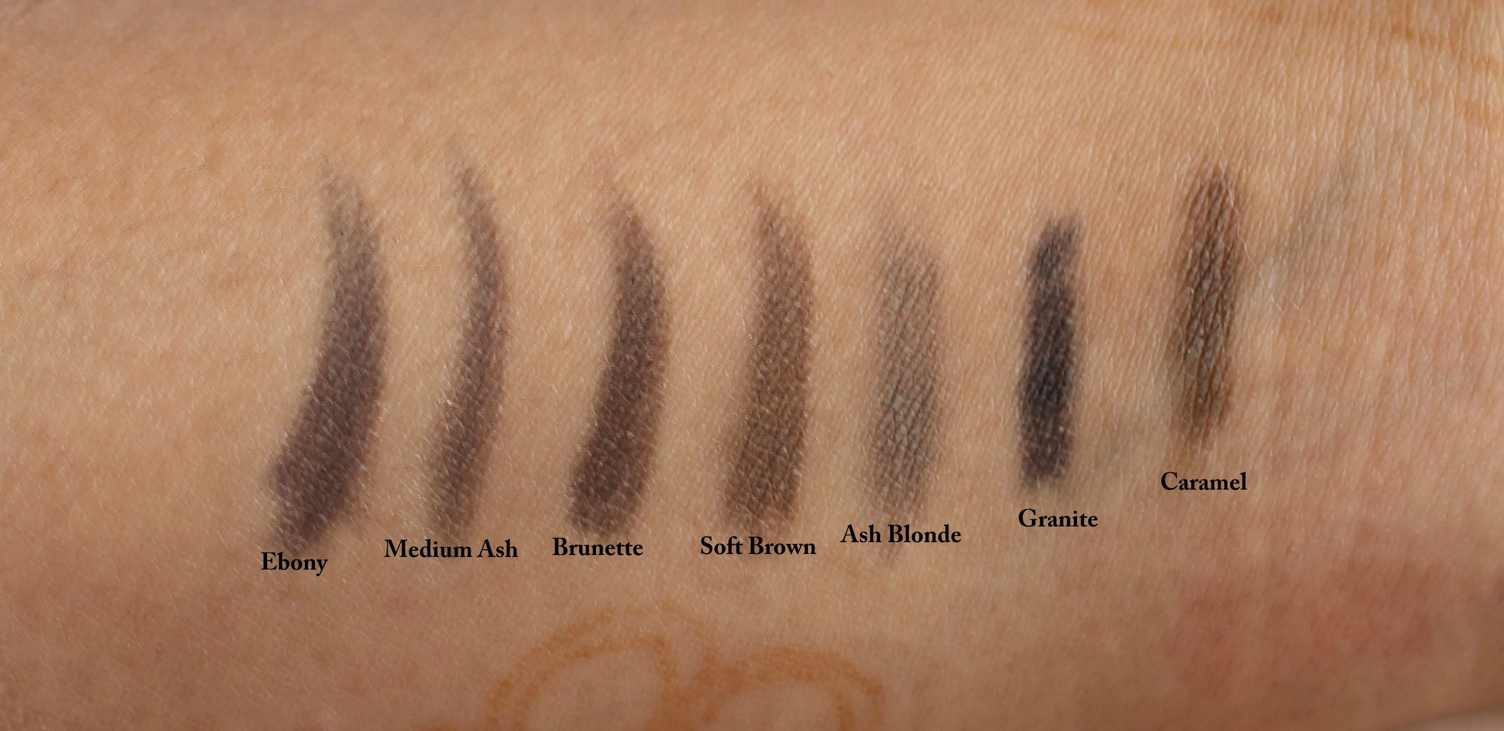 anastasia beverly hills brow wiz colors