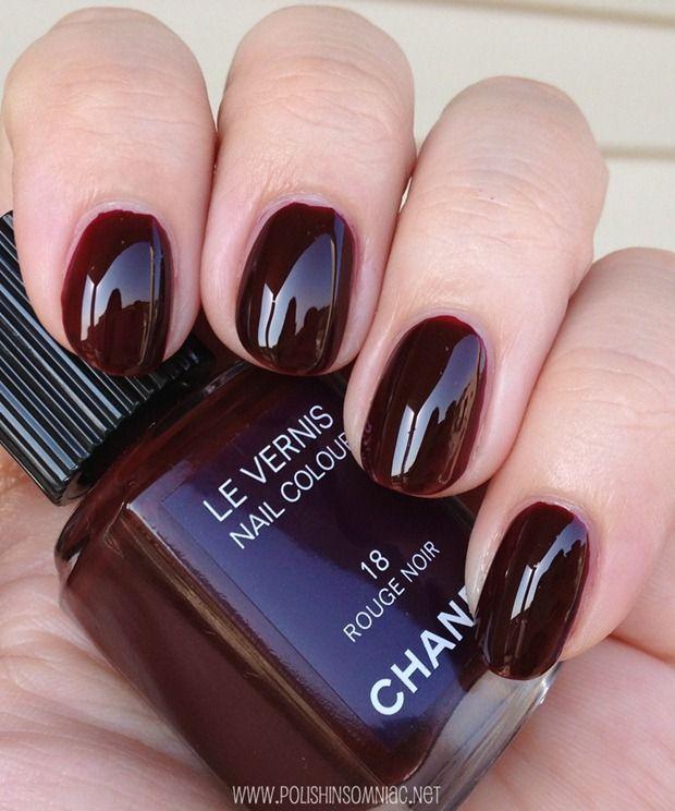 chanel vernis rouge noir