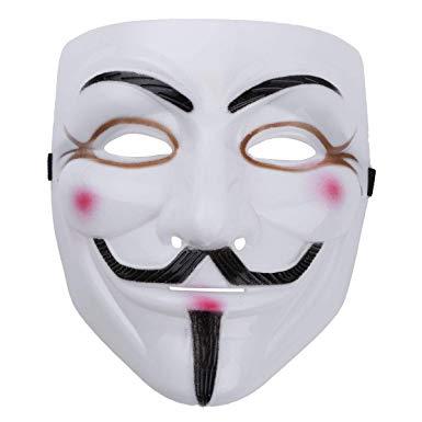 masque blanc et noir