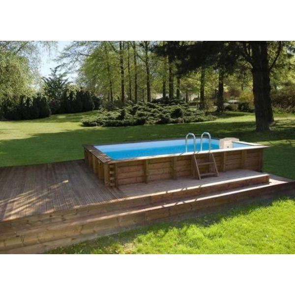 piscine semi enterrée rectangulaire